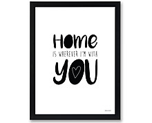 home - print with frame