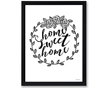 home sweet - print with frame
