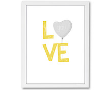 love - print with frame
