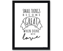 small things - print with frame