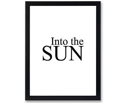 sun - stampa in cornice