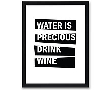 water - print with frame