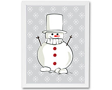 snowman - print with frame