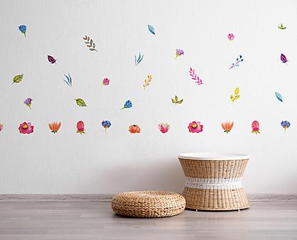 fiori tropicali acquerellati