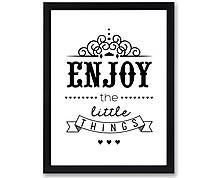 enjoy - print with frame