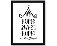 shabby sweet home - print with frame