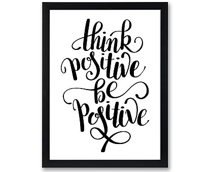 think positive - stampa in cornice