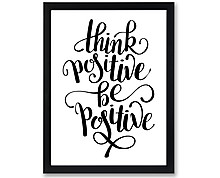 think positive - print with frame