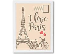 cartolina parigi - stampa in cornice