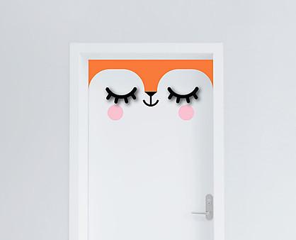 volpe - decorazione per porta