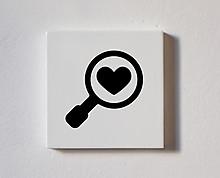ricerca d'amore - tessera decorativa in legno