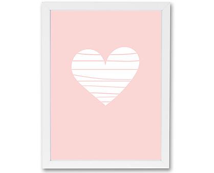 cuore pastello - stampa in cornice