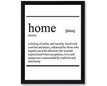 home vocabulary - print with frame