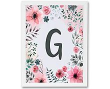 iniziale con cornice di fiori - stampa in cornice