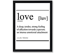 love vocabolario - stampa in cornice