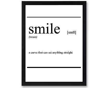 smile vocabolario - stampa in cornice