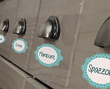 etichette bagno