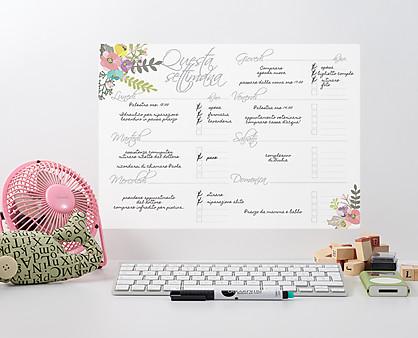 agenda settimanale fiori