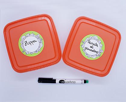 etichette freezer tonde - scrivibili